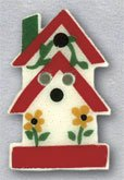 86325 - 2-Story Birdhouse With Sunflowers 5/8in x 1in - 1 per p
